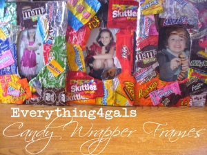 Candy Wrapper Frames