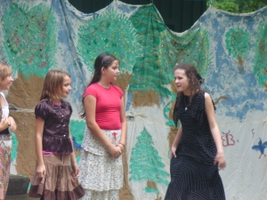 "Me doing a play at the park! ""It's a pleasure to meet you... Elizabeth."" Was what i was saying."